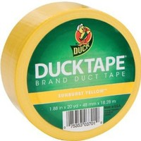 Duck Brand 1304966 Color Duct Tape, Yellow, 1.88 Inches x 20 Yards, Single Roll