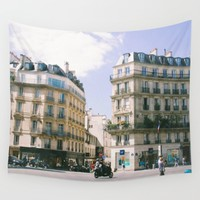 Buildings in Paris Wall Tapestry by Alden Terry