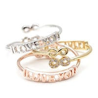 infinity i love you ring, i love you ring, infinity ring, adjustable ring, woman ring, best friends ring, bridesmaid ring, eternity ring