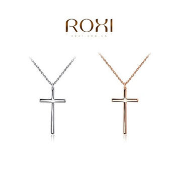 ROXI Fashion Necklace,Gold Plated Statement cross pendant necklace for girls [8081686599]