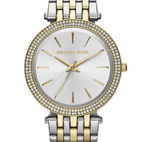 Michael Kors Ladies Darci Two-Tone Glitz Watch