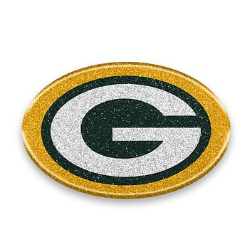 Green Bay Packers Auto Emblem - Oval Color Bling
