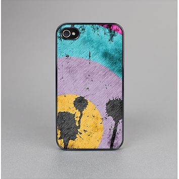 The Colorful Grunge Target Skin-Sert for the Apple iPhone 4-4s Skin-Sert Case