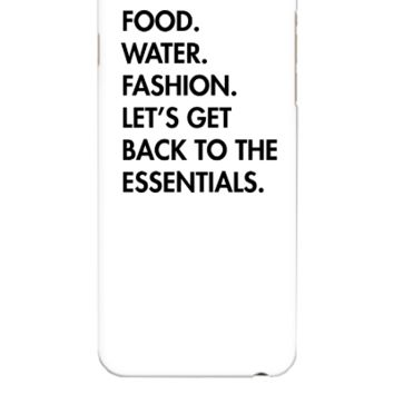 Food. Water. Fashion - iphone 6 Plus Case