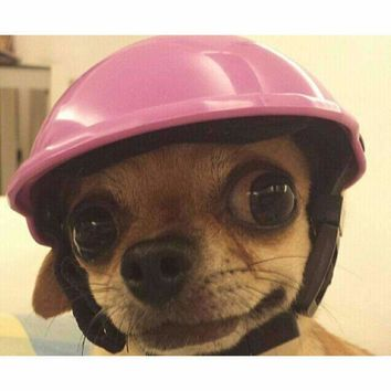 New Arrival Puppy Motorcycle Safeguard for Dog Cat Handsome Biker Hat Pets Helmets Ridding Cap ABS Doggy Costumes Accessories