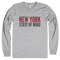 New York State Of Mind Long Sleeve Tee (ida422215)-T-Shirt