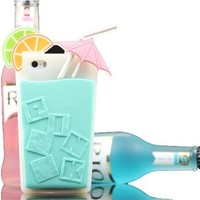 ONG Victoria's Secret Beverage cup Soft Silicone case For iPhone 5 5S-(mint green)
