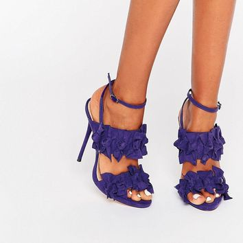 Lost Ink Dustin Bow Heeled Sandals