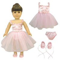 "Doll Clothes Fits American Girl 18"" Inch Outfit Ballerina Ballet Dress"