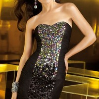Beaded Strapless Dress by Alyce Homecoming
