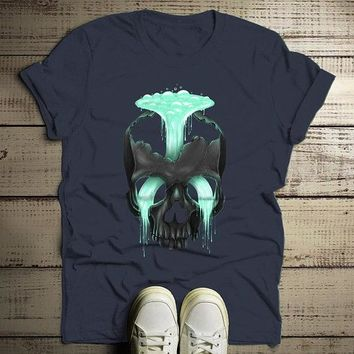 Men's Grunge T Shirt Hipster Clothing Skull Shirts Under Pressure Artistic Graphic Tee