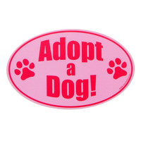 Adopt a Dog Car Magnet