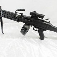 NEW Airsoft Military Machine Gun with Bipod + Many Extras -- Gun/Rifle/SAW/G037