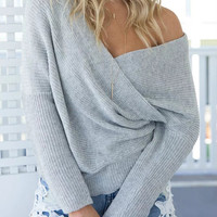 Women's Sexy V Neck Knit Pullover Sweater Jumper