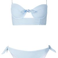 Blue Stripe Triangle Bikini - New In - Topshop USA