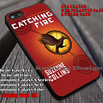 The Hunger Games Catching Fire Book iPhone 6s 6 6s+ 6plus Cases Samsung Galaxy s5 s6 Edge+ NOTE 5 4 3 #movie #thehungergames ii