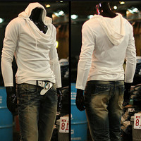 Hoodies Men's Fashion Casual Tops Pullover Men Slim Jacket [6528649283]