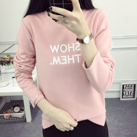 New Autumn Winter Women's Casual Loose Long Sleeve T-Shirt Comfortable Tee Gift 196