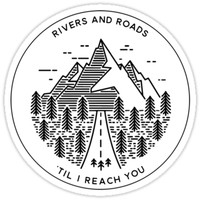 'RIVERS AND ROADS' Sticker by MadEDesigns