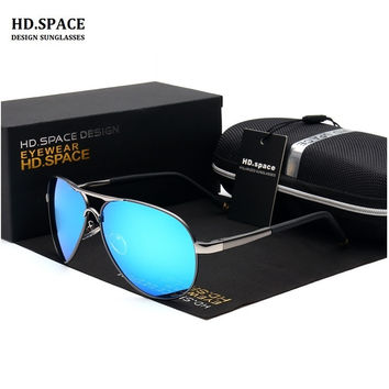 HD.SPACE Design Men Polarized Sunglasses bright color Sunglasses driving Glasses With Original Case