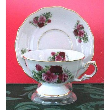 Laurel Tea Cups (Teacups) and Saucers Set of 2 Choose from 30 Patterns