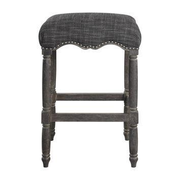 Aiden Blue Gray Backless Bar Stool by Uttermost