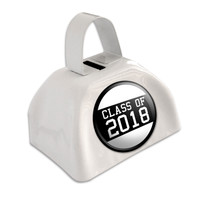 Class of 2018 Graduation White Cowbell Cow Bell