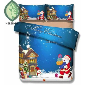 Christmas 3D Bedding Set Santa Claus Print  Duvet cover set
