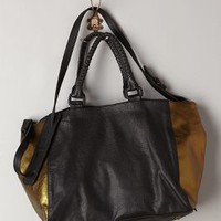 Bronzed Leather Tote by Cleobella Black One Size Bags