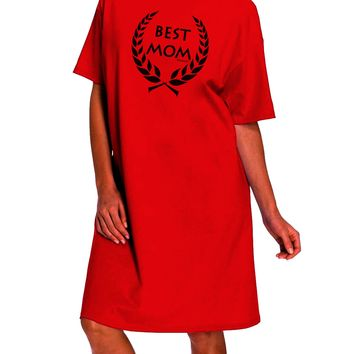 Best Mom - Wreath Design Adult Wear Around Night Shirt and Dress by TooLoud