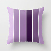 Lavender Stripes Throw Pillow by 2sweet4words Designs | Society6