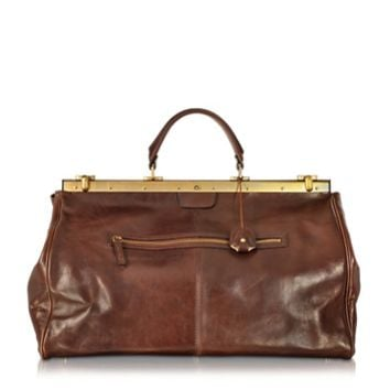 The Bridge Designer Travel Bags Story Viaggio Marrone Leather Travel Bag