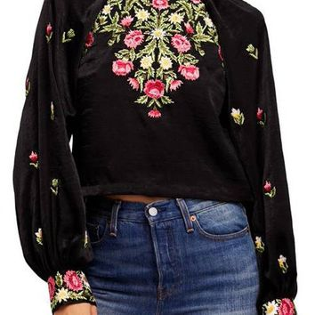 Jessica Blouse - Black by Free People