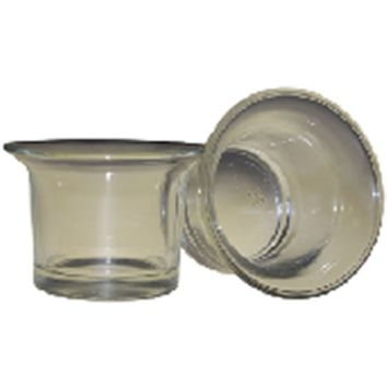 Clear-Votive Candle Holder - Small Fluted