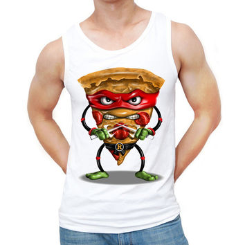 2017 New Fashion Vintage Food Funny Design Men Tank tops Ninja Pizza Printed Basic Vest Hipster Cool Singlets