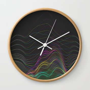 Pretty Little Lines Wall Clock by DuckyB