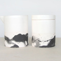 Splatter Creamer and Sugar Set - Made to Order