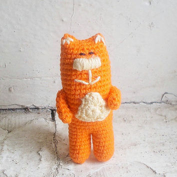 Amigurumi orange cat, crochet cat, crochet plush toy, small crochet cat, little amigurumi cat, small pet animal, small cat, crochet toy