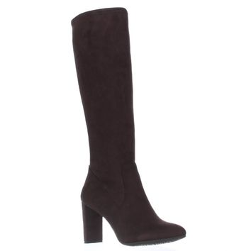 Nine West Kellan Knee-High Boots, Dark Brown, 8.5 US