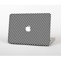 The Black and White Opposite Stripes Skin Set for the Apple MacBook Air 13""