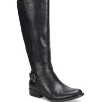Born Campbell Leather Tall Block Heel Riding Boots | Dillards