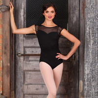 "Free Shipping - Cap Sleeve ""Audrey Hepburn"" Leotard by SUFFOLK"