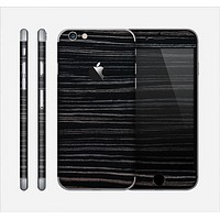 The Black Wood Texture Skin for the Apple iPhone 6