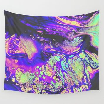 FIRE AND THUD Wall Tapestry by Malavida