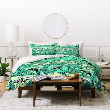 Chobopop Nineties Dinosaur Skeleton Pattern Duvet Cover