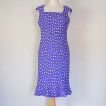 80s Polka Dot Column Dress