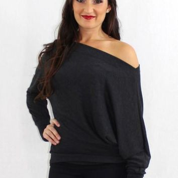 The Side Effect Off the Shoulder Slouchy Sweater