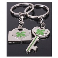 Hot Sale Four Leaf Clover Embellish Key Chain For Lover China Wholesale - Sammydress.com