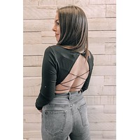 Can't Forget You Bodysuit- Black