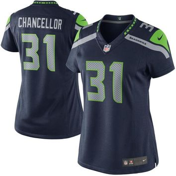 Women's Seattle Seahawks Kam Chancellor Nike College Navy Limited Jersey